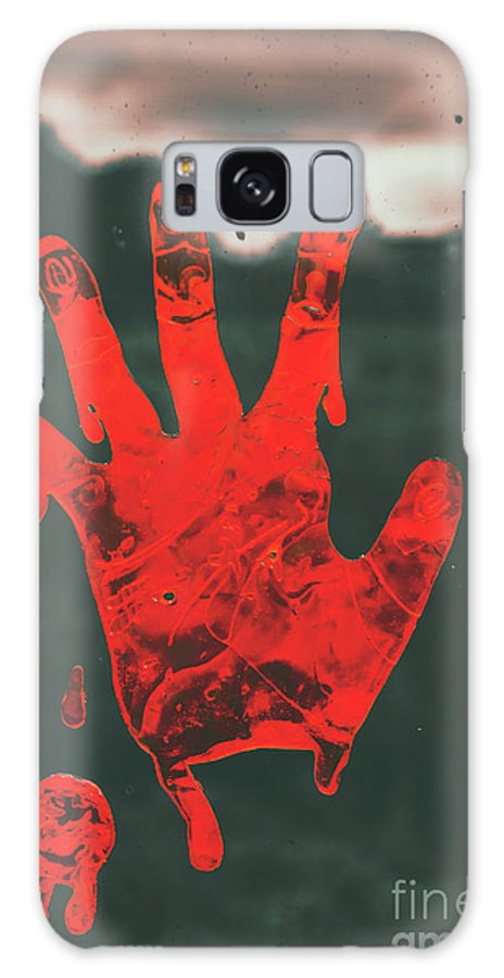 Fear Galaxy S8 Case featuring the photograph Pressing Terror by Jorgo Photography - Wall Art Gallery