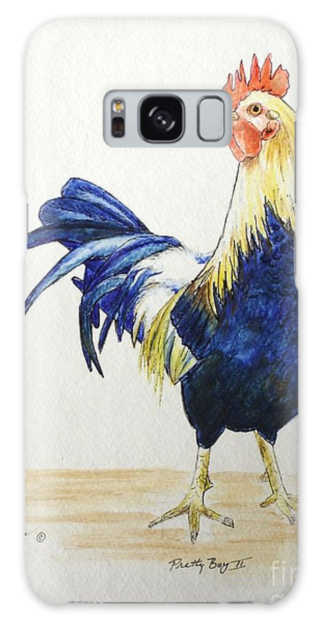 Rooster Galaxy S8 Case featuring the mixed media Pretty Boy II by Mary Rogers