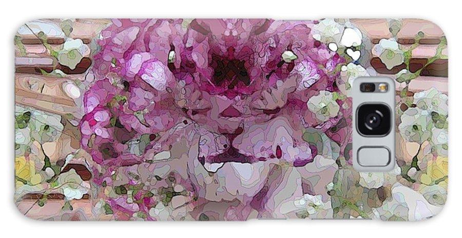 Flowers Galaxy S8 Case featuring the digital art Pretty In Purple by Tim Allen