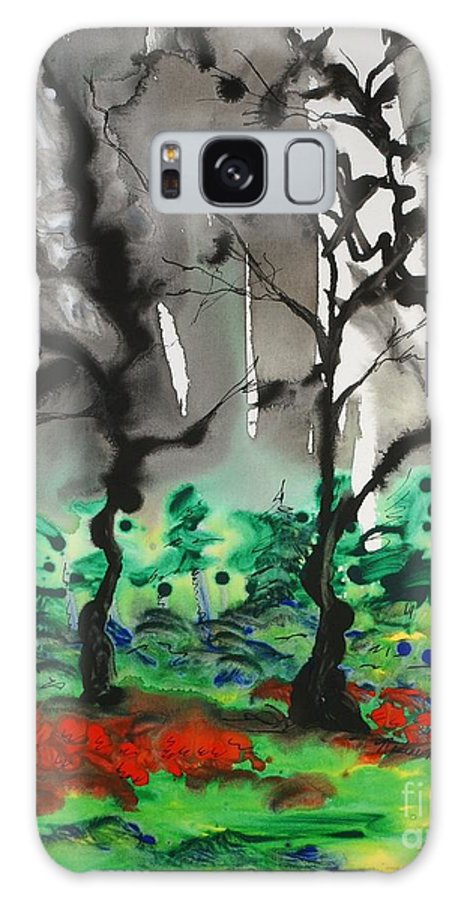 Forest Galaxy Case featuring the painting Primary Forest by Nadine Rippelmeyer