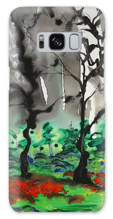 Forest Galaxy S8 Case featuring the painting Primary Forest by Nadine Rippelmeyer