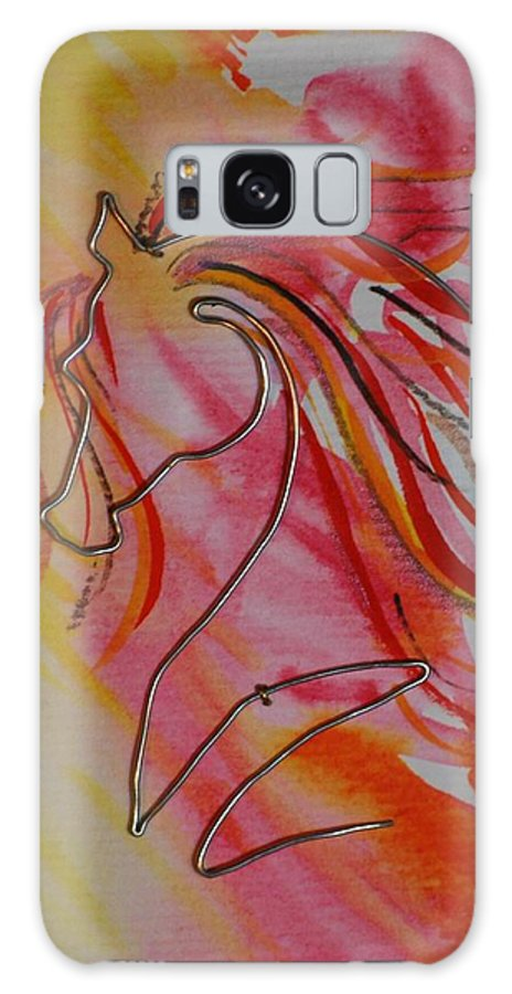 Horse Galaxy S8 Case featuring the painting Primary Horse by Leitha Stone