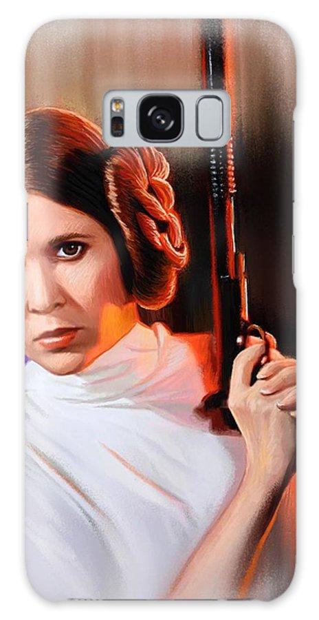 Leia Galaxy S8 Case featuring the digital art Princess Leia by John Brennan