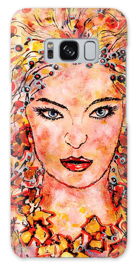 Woman Galaxy S8 Case featuring the painting Princess Of The Universe by Leonard Holland