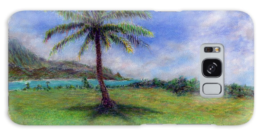 Rainbow Colors Pastel Galaxy Case featuring the painting Princeville Palm by Kenneth Grzesik