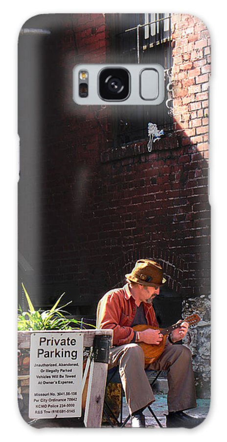 City Scape Galaxy S8 Case featuring the photograph Private Parking by Steve Karol
