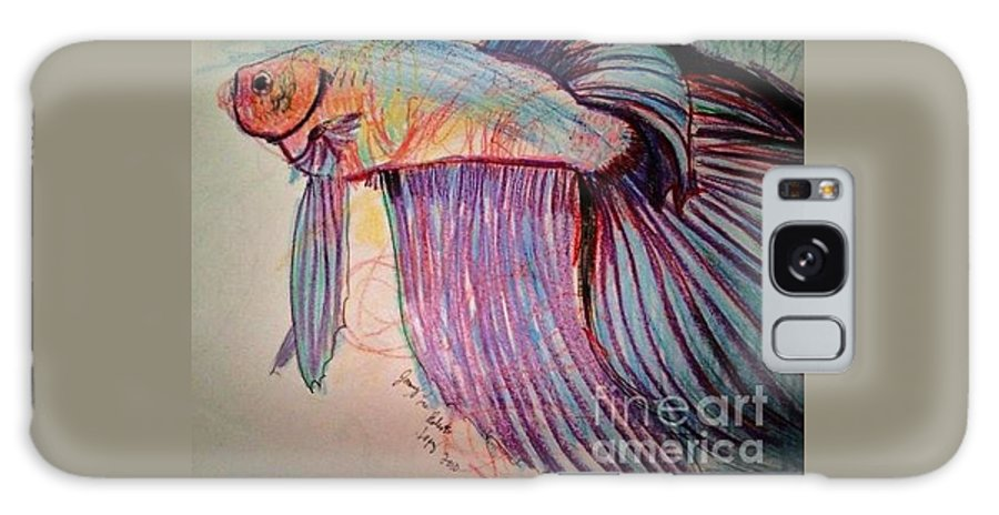 Betta Drawing Galaxy S8 Case featuring the drawing Prize Betta by Jamey Balester