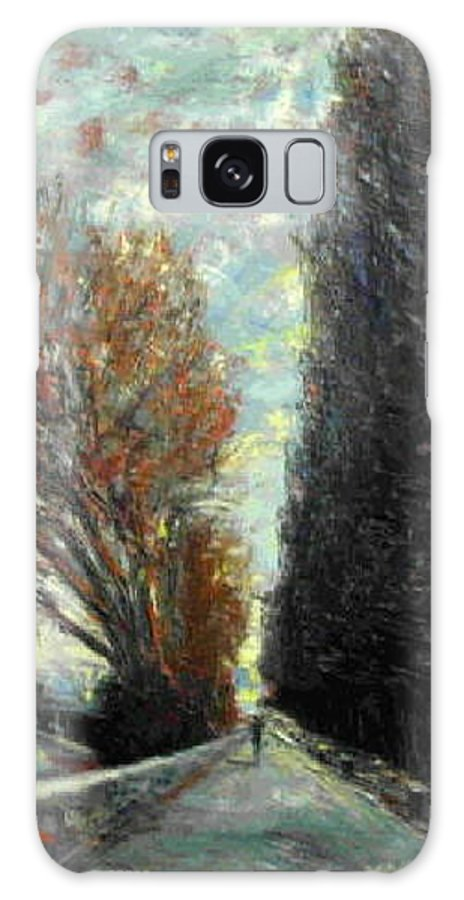 Landscape Galaxy S8 Case featuring the painting Promenade by Walter Casaravilla