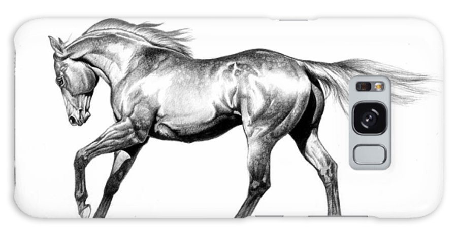 Thoroughbred Galaxy S8 Case featuring the drawing Proud by Howard Dubois