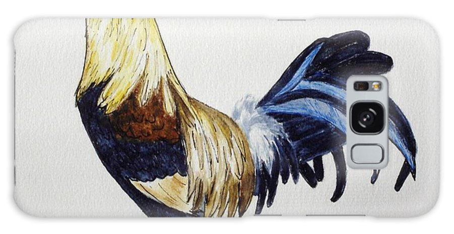 Rooster Galaxy S8 Case featuring the mixed media Proud Rooster by Mary Rogers