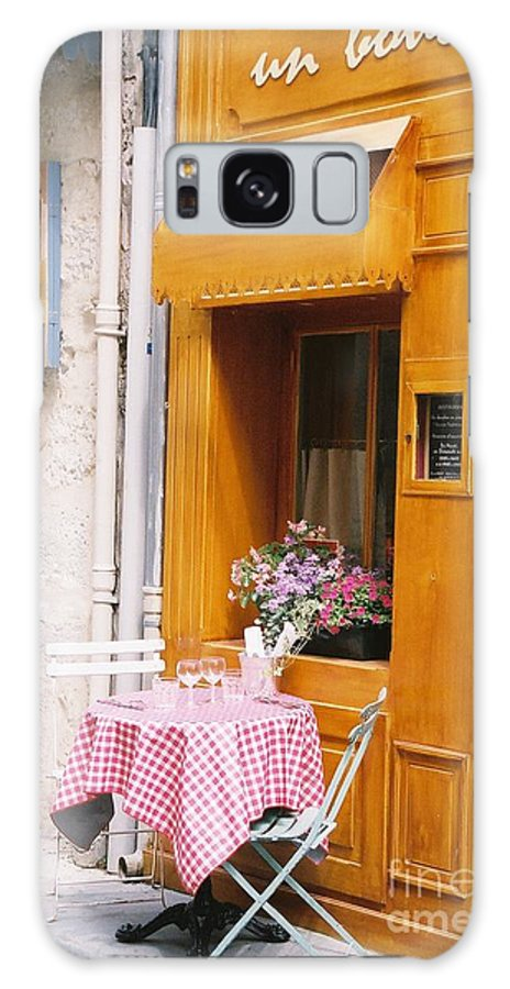 Cafe Galaxy S8 Case featuring the photograph Provence Cafe by Nadine Rippelmeyer