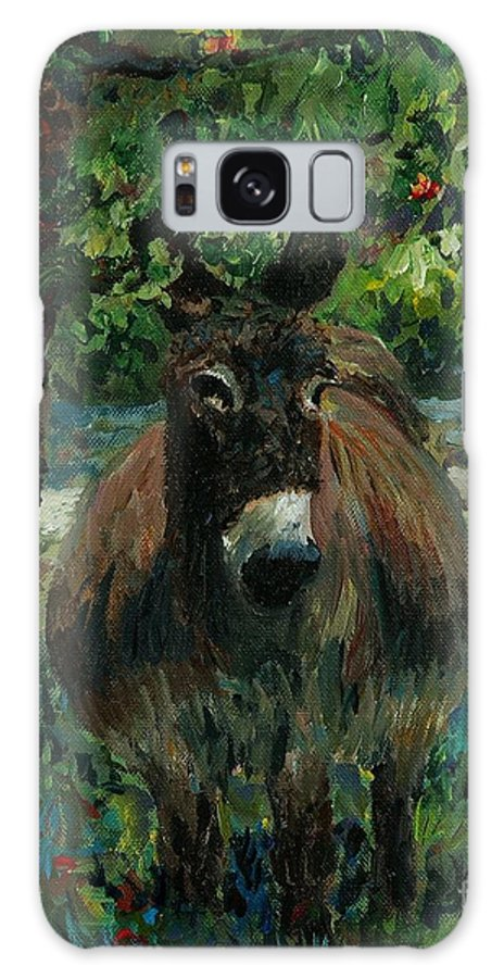 Donkey Galaxy S8 Case featuring the painting Provence Donkey by Nadine Rippelmeyer
