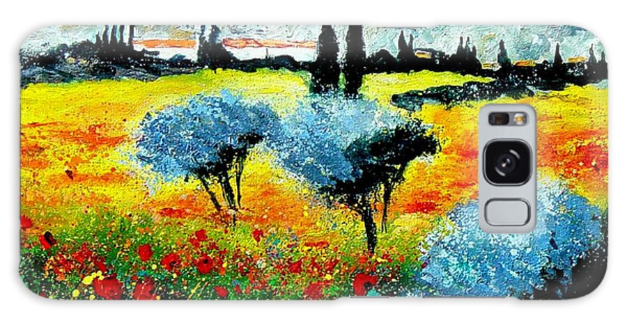 Poppies Galaxy S8 Case featuring the painting Provence by Pol Ledent