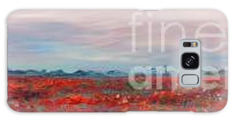 Poppies Galaxy S8 Case featuring the painting Provence Poppies by Nadine Rippelmeyer
