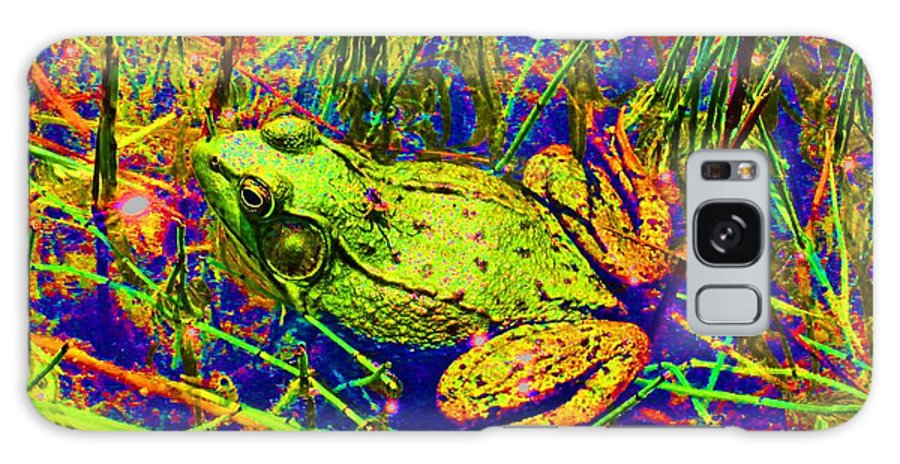 Galaxy S8 Case featuring the photograph Psychedelic Frog by David Frederick
