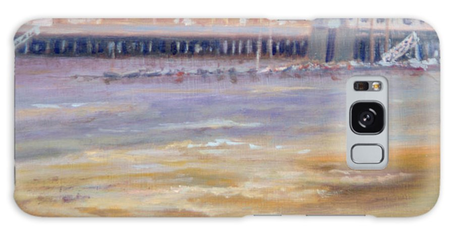 Ptown Galaxy S8 Case featuring the painting Ptown Fisherman's Wharf by Phyllis Tarlow