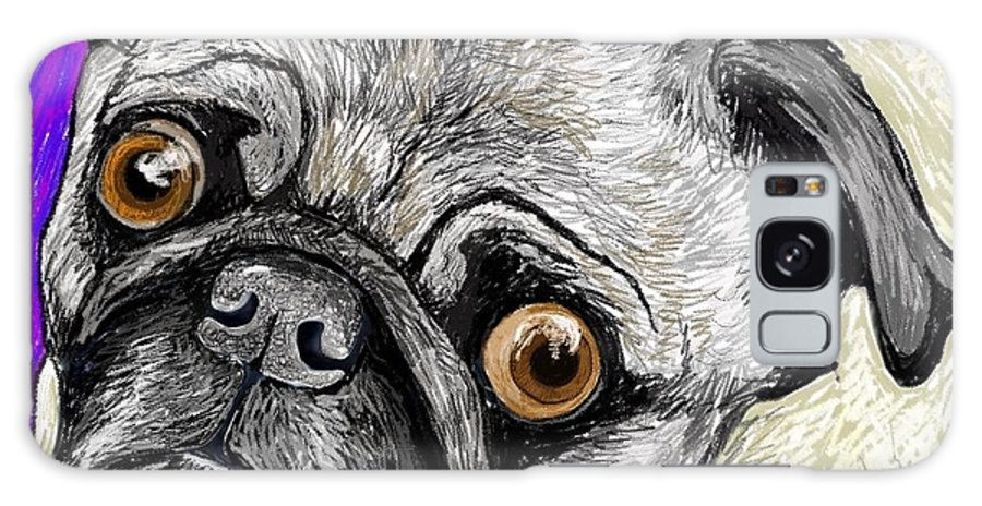 Pug Galaxy S8 Case featuring the pastel Olivia The Pug by Heidi Creed
