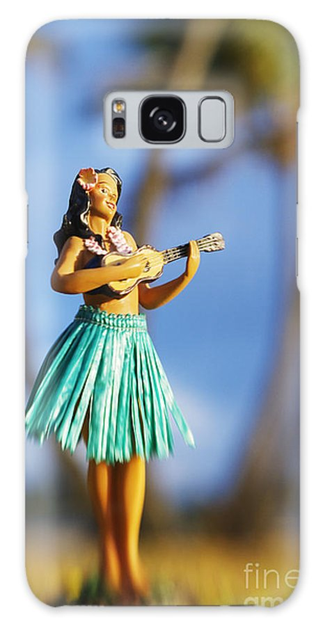 Beach Galaxy S8 Case featuring the photograph Punaluu, Hula Doll by Greg Vaughn - Printscapes
