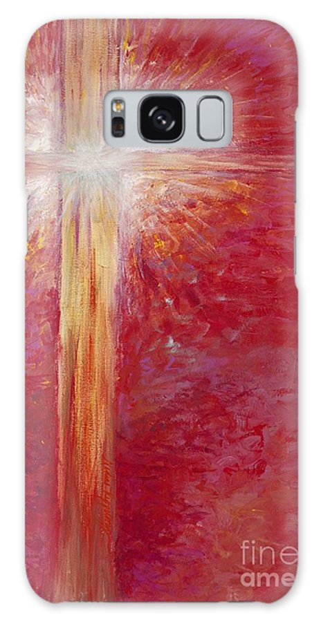 Light Galaxy S8 Case featuring the painting Pure Light by Nadine Rippelmeyer