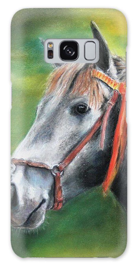 Horse Galaxy S8 Case featuring the painting Pure Spanish by Ceci Watson