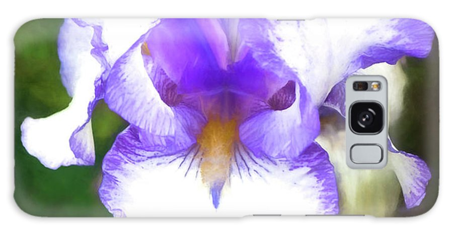 Iris Galaxy S8 Case featuring the photograph Purple And White Iris by Jim And Emily Bush