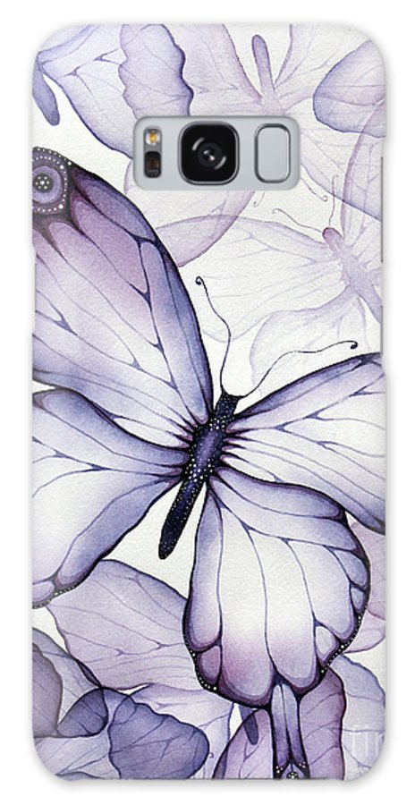 Purple Galaxy S8 Case featuring the painting Purple Butterflies by Christina Meeusen