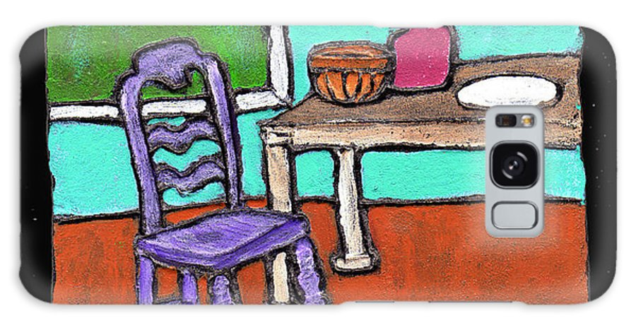 Purple Galaxy Case featuring the painting Purple Chair by Wayne Potrafka