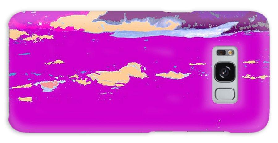 Waves Galaxy S8 Case featuring the photograph Purple Crashing Waves by Ian MacDonald