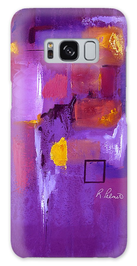 Purple Abstract Galaxy S8 Case featuring the painting Purple Enclosure by Ruth Palmer