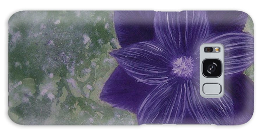 Flower Galaxy Case featuring the painting Purple Flower by Emily Young
