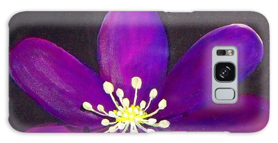 Purple Flower Galaxy S8 Case featuring the painting Purple Flower by Lynda McDonald