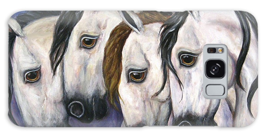 Horse Painting Galaxy Case featuring the painting Purple Haze by Frances Gillotti
