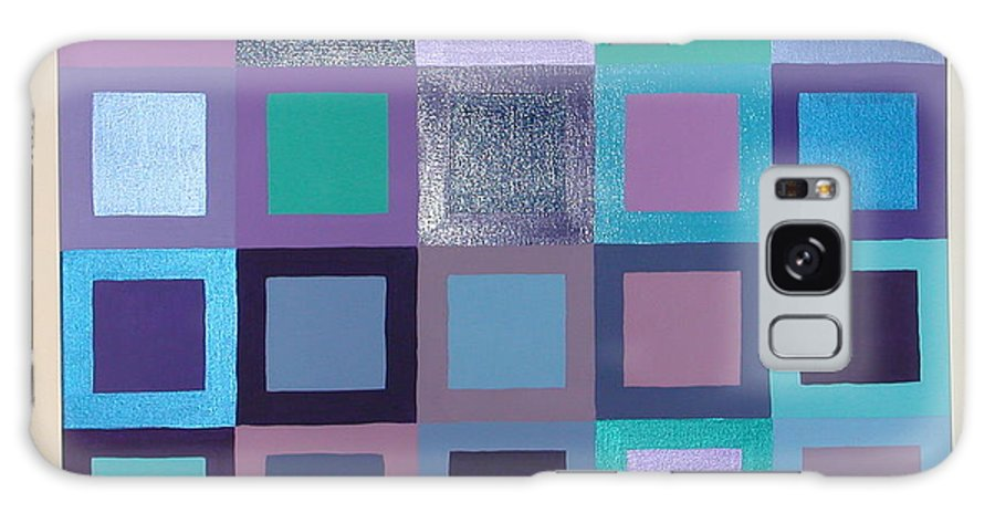 Squares Galaxy Case featuring the painting Purple Haze by Gay Dallek