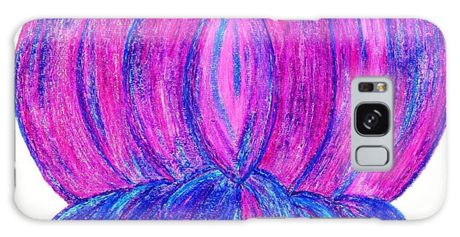 Purple Lotus Galaxy S8 Case featuring the pastel Purple Lotus by Chandelle Hazen