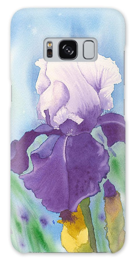 Iris Galaxy S8 Case featuring the painting Purple by Louise Magno