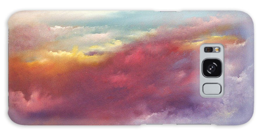 Sky Galaxy Case featuring the painting Purple Majesty by Sally Seago