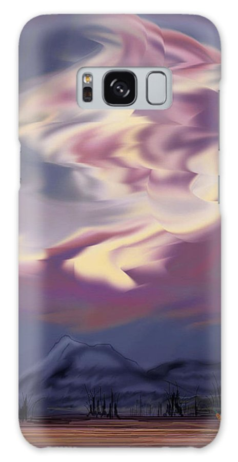 Clouds Galaxy S8 Case featuring the painting Purple Mountain Majesty by Anne Norskog