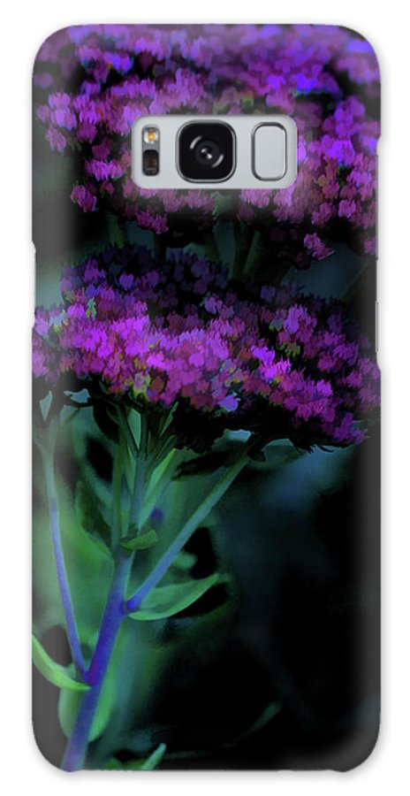 Digital Watercolor Galaxy S8 Case featuring the photograph Purple Passion by Bonnie Bruno