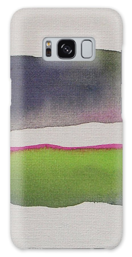 Abstract Galaxy S8 Case featuring the painting Purple Rain by Vesna Antic