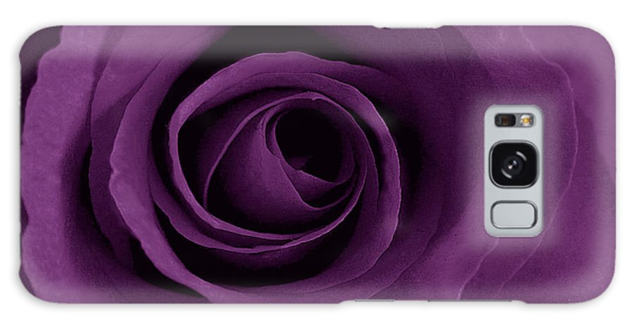 Rose Galaxy Case featuring the photograph Purple Rose Of Artsy by Leonard Rosenfield