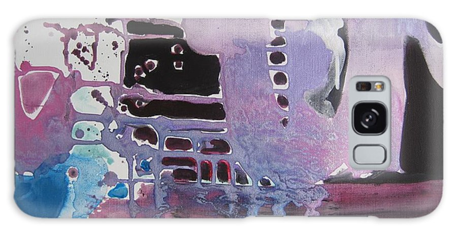 Abstract Paintings Galaxy S8 Case featuring the painting Purple Seascape by Seon-Jeong Kim