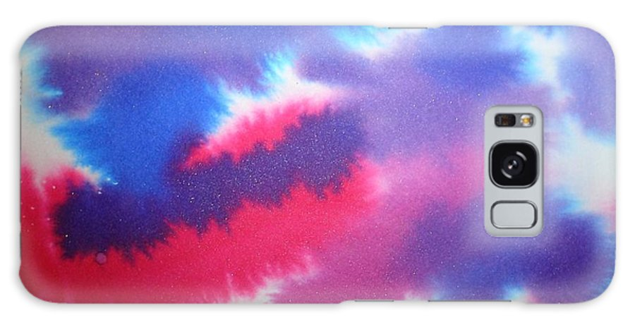 Abstract Galaxy Case featuring the painting Purple Wisp by Chandelle Hazen