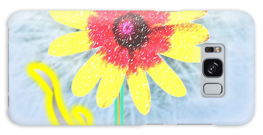 Flower Galaxy S8 Case featuring the painting Quaint Little Daisy by Belinda Threeths