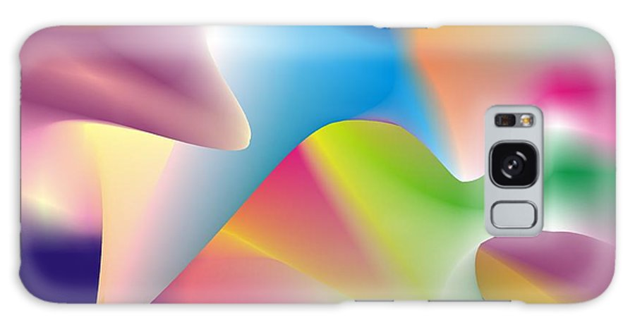 Abstract Galaxy Case featuring the digital art Quantum Landscape 2 by Walter Oliver Neal