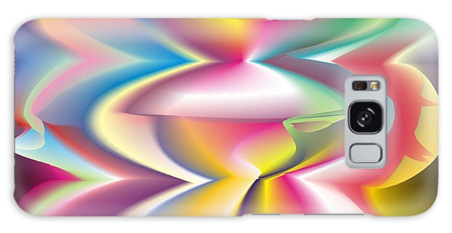 Abstract Galaxy S8 Case featuring the digital art Quantum Landscape 3 by Walter Oliver Neal