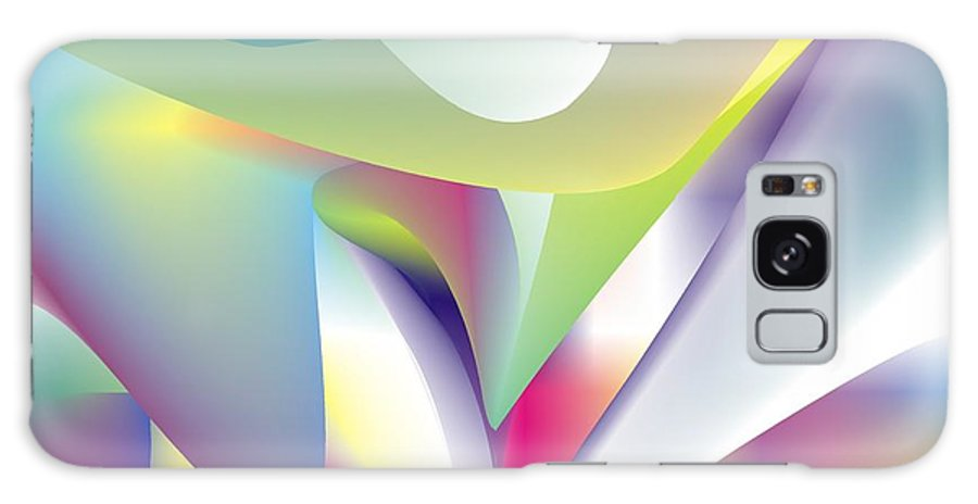 Abstract Galaxy S8 Case featuring the digital art Quantum Landscape 5 by Walter Oliver Neal