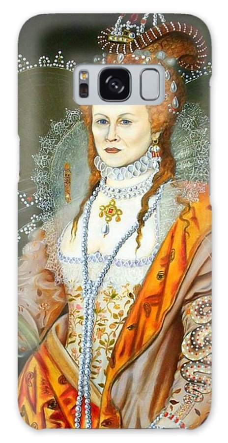 Art Galaxy Case featuring the painting Queen Elizabeth after Oliver by RB McGrath