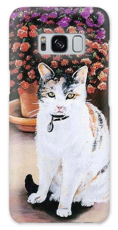 Cat Galaxy S8 Case featuring the pastel Queen Marishka by Gale Cochran-Smith