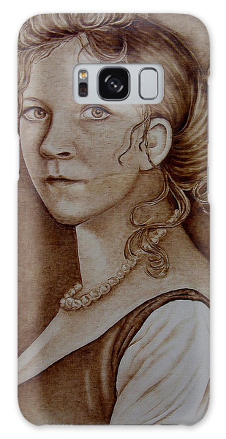 Pyrography Galaxy S8 Case featuring the pyrography Queen Of Prussia by Jo Schwartz