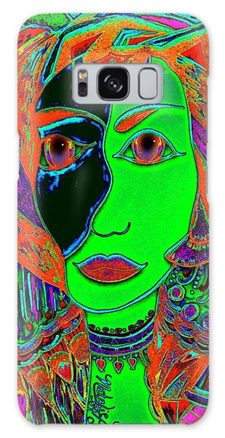 Queen Of The Nile Galaxy S8 Case featuring the painting Queen Of The Nile by Natalie Holland